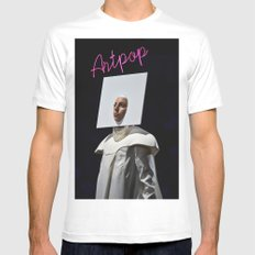 A-R-T-P-O-P Mens Fitted Tee MEDIUM White