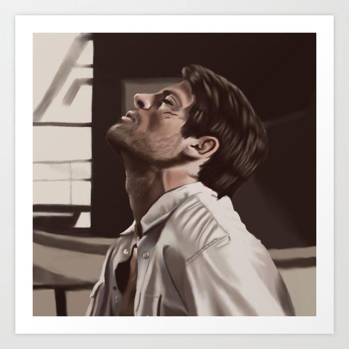 Castiel captured  Art Print