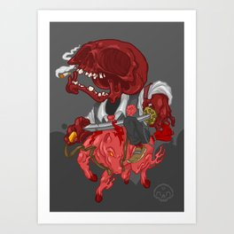 The Four Horsemen of the Apocalypse (Red) Art Print
