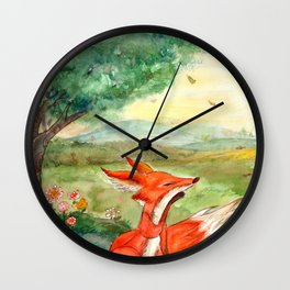 The Fox and Little Prince Wall Clock
