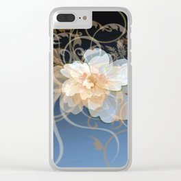 Beautiful Abstract Floral Clear iPhone Case