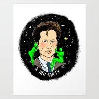 Fox Mulder Pin-up Art Print