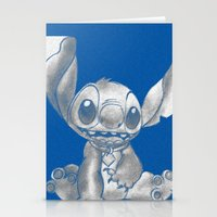 lilo and stitch Stationery Cards featuring Stitch  by Nic Moore