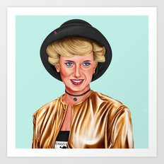 Hipstory - Princes Diana Art Print