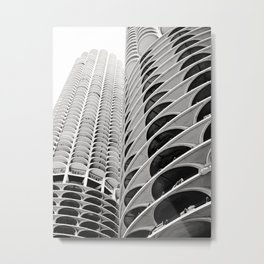 Chicago's Marina City Metal Print
