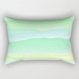 Mint Aqua Rolling Hills Rectangular Pillow