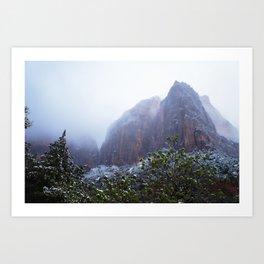 Dream layered mountain Art Print