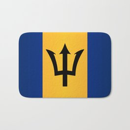 Barbados Flag Bath Mat