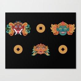 Wayang Wong Mask PopArt Canvas Print