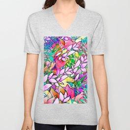 Grunge Art Floral Abstract G130 Unisex V-Neck