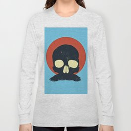 Skull With Stache Long Sleeve T-shirt