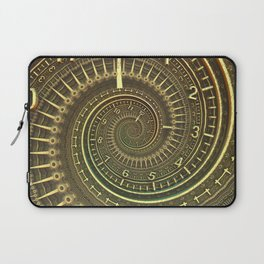 Bronze Metallic Ornate Spiral Time Machine Laptop Sleeve