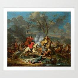 Karel Breydel, gen. Le Chevalier (1677 Antwerpen – 1744 Gent) Calvary Skirmish II Art Print