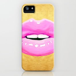 Fashion pink lips II iPhone Case