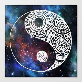 Galaxy Yin Yang Canvas Print