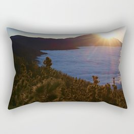 Sunset Canary Islands forest and Volcano Teide in Tenerife Rectangular Pillow