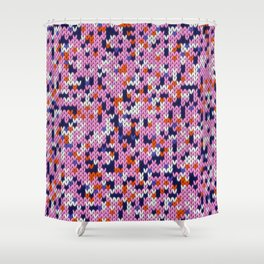 Knitted multicolor pattern 5 Shower Curtain