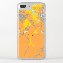 Orange Yellow Striations Clear iPhone Case