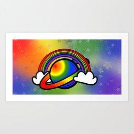 Space Queers: Gay Art Print