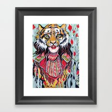 Tiger Woman Framed Art Print