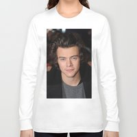harry styles Long Sleeve T-shirts featuring Harry Styles by behindthenoise