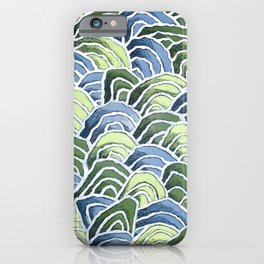Waves with Wax Pastels for Ocean Lovers by Christie Olstad iPhone Case
