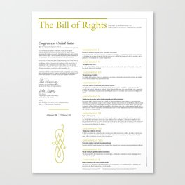 Bill of Rights Canvas Print