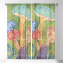 Toadstools Sheer Curtain