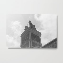Tower at Ghirardelli Square in Black & White Metal Print