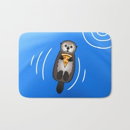 Sea Otter with Pizza Bath Mat