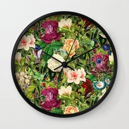 Vintage Floral Garden Wall Clock