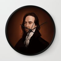 amy hamilton Wall Clocks featuring Hamilton by days & hours
