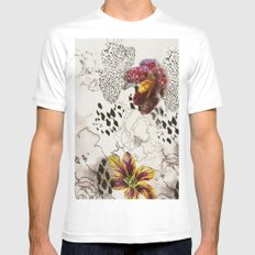 orchids Mens Fitted Tee MEDIUM White