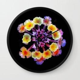 Camara flower - natural mandala Wall Clock