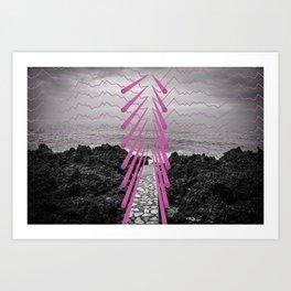 Surreal Beachscape Art Print
