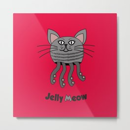 Jelly Meow Metal Print