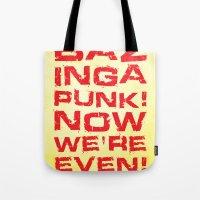 bazinga Tote Bags featuring Bazinga! by Cloz000