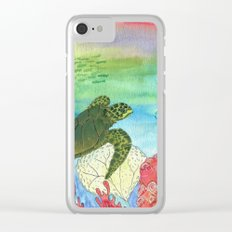 Sea Turtle Shores Clear iPhone Case