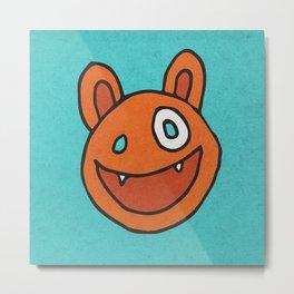 Slightly Amused Monsters, VII Orange Metal Print