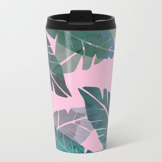 Banana Leaves Metal Travel Mug