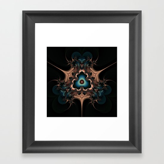 Layered hearts and thorns Framed Art Print