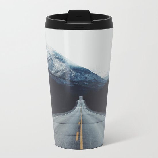 Mountain Road #forest Metal Travel Mug