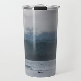 Lone Surfer - Hanalei Bay - Kauai, Hawaii Travel Mug