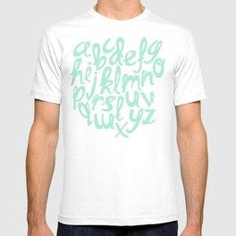 MINT ALPHABET T-shirt