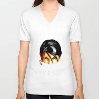 tomb raider V-neck T-shirts featuring Survivalist Laura Croft Tomb Raider by Christophajay