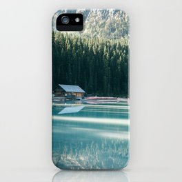 Lake Louise Canoes iPhone Case