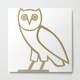 Owl Ovoxo Metal Print