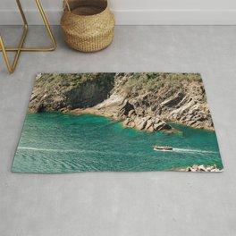 Travel Photography: Coast in Cinque Terre, Italy Rug
