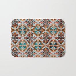Seamless Floral Pattern Ornamental Tile Design  3 - Red Bath Mat