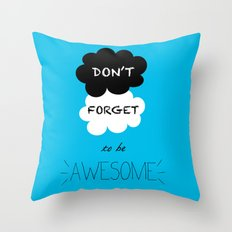 DFTBA TFIOS Nerdfighter Vlogbrothers Don't Forget to be Awesome, The Fault in Our Stars, John Green Throw Pillow